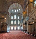 Wnętrze sułtanu Ahmed Meczetowy Błękitny meczet, Istanbuł, Turcja Obraz Stock