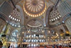 Wnętrze sułtanu Ahmed Meczetowy Błękitny meczet, Istanbuł, Turcja Obraz Royalty Free