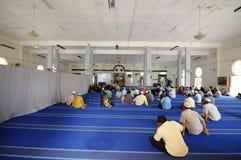 Wnętrze sułtanu Mahmud meczet W Kuala Lipis, Pahang Zdjęcia Stock