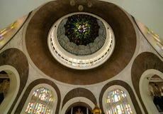 Wnętrze sułtanu Sulaiman meczet w Klang Obraz Stock