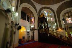Wnętrze sułtanu Sulaiman meczet w Klang Zdjęcia Royalty Free