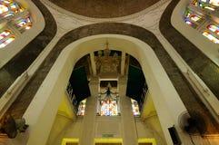 Wnętrze sułtanu Sulaiman meczet w Klang Zdjęcie Royalty Free