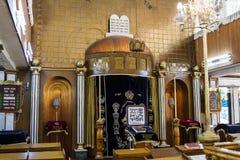 Wnętrze synagogi Brahat brzęczenia w Bnei Brak Izrael obraz stock