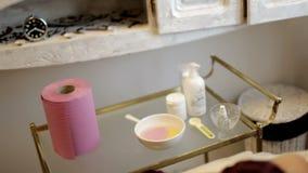 Wnętrze szczegóły w piękno salonie Miejsce dla kosmetycznych procedur zbiory wideo