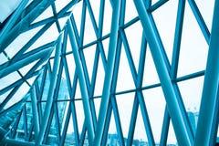 Wnętrze szkło w Biznesowym budynku biurowym Pieniężny Skyscra Zdjęcie Stock
