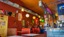 Wnętrze Tacos iść Iść Tex restauracja w Houston, TX zdjęcia stock