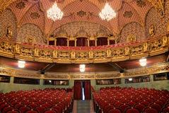 Wnętrze theatre fotografia stock
