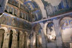 Wnętrze Tokali Kilise z frescoes kościół klamra Zdjęcia Stock