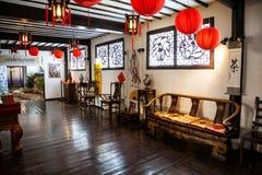 Wnętrze tradycyjni chińskie pokój Obrazy Stock