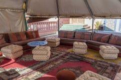 Wnętrze tradycyjny beduiński namiot Obraz Stock