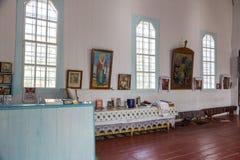 Wnętrze Ukraiński Ortodoksalnego kościół Moskwa patriarchat Ukraina, Odessa region, Kodyma, 2012, ołtarz, iconostasis zdjęcie royalty free