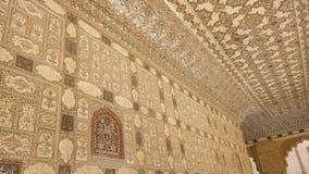 Wnętrze Złocisty pałac Jaipur India obraz royalty free