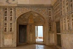 Wnętrze Złoty pawilon w forcie Agra Fotografia Royalty Free