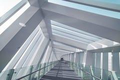 Wnętrze Zadziwiający most - spirala, Dubaj obrazy royalty free