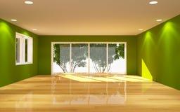Wnętrze Zielony pokój royalty ilustracja