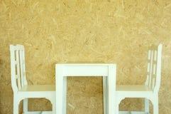 Wnętrzy krzesła i stół Obraz Stock