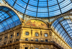 Wnętrza Galleria Vittorio Emanuele II Obraz Stock