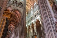 Wnętrza katedra Amiens, France Zdjęcie Stock
