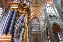 Wnętrza katedra Amiens, France Fotografia Stock