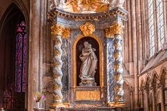 Wnętrza katedra Amiens, France Zdjęcia Royalty Free