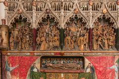 Wnętrza katedra Amiens, France Obrazy Royalty Free