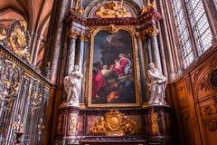 Wnętrza katedra Amiens, France Obrazy Stock