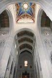 Wnętrza katedra Santa Maria los angeles Real De Los angeles Almudena, Madryt, Hiszpania Zdjęcie Stock