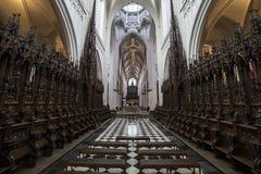 Wnętrza Notre paniusi d'Anvers katedry, Anvers, Belgia Zdjęcia Royalty Free