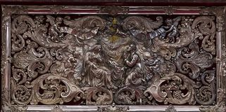 Wnętrza Notre paniusi d'Anvers katedry, Anvers, Belgia Zdjęcie Stock