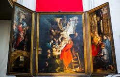 Wnętrza Notre paniusi d'Anvers katedry, Anvers, Belgia Fotografia Royalty Free