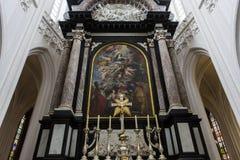 Wnętrza Notre paniusi d'Anvers katedry, Anvers, Belgia Zdjęcia Stock