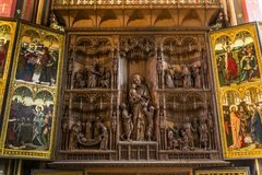 Wnętrza Notre paniusi d'Anvers katedry, Anvers, Belgia Obrazy Royalty Free
