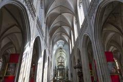 Wnętrza Notre paniusi d'Anvers katedry, Anvers, Belgia Fotografia Stock