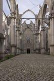 Wnętrza roofless Carmo klasztor w Lisbon Zdjęcie Stock