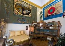 Wnętrza z meble i sztuki pracami w Dali muzeum Obraz Royalty Free