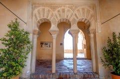 Wnętrze Alcazaba Malaga, Hiszpania Zdjęcie Stock