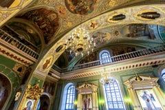 Wnętrze Annunciation katedra Kazan Kremlin zdjęcia royalty free