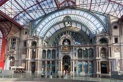 Wnętrze Antwerp stacja kolejowa Zdjęcia Royalty Free