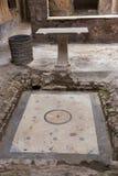 Wn?trze antykwarski rzymski dom przy Pompeii, W?ochy fotografia royalty free