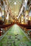 Wnętrze bazylika De Nuestra Senora Del Rosario Zdjęcia Stock