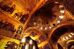 Wnętrze bazylika Di San Marco w Wenecja Fotografia Stock