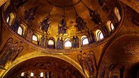 Wnętrze bazylika Di San Marco w Wenecja Obrazy Stock