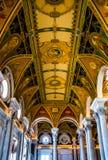 Wnętrze biblioteka kongresu, Waszyngton, DC Obrazy Royalty Free