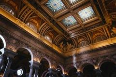 Wnętrze biblioteka kongresu, Waszyngton, DC Obraz Stock