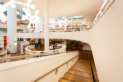 Wnętrze biblioteka publiczna Amsterdam Zdjęcie Royalty Free