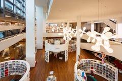 Wnętrze biblioteka publiczna Amsterdam Fotografia Royalty Free