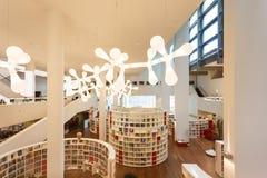 Wnętrze biblioteka publiczna Amsterdam Obraz Stock