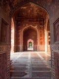 Wnętrze boczny budynek przy Taj Mahal Obrazy Royalty Free