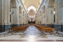 Wnętrze Catania katedra Zdjęcia Stock