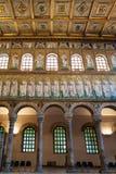 Wnętrze Catherdal Sant Apollinare Nuovo Obraz Royalty Free